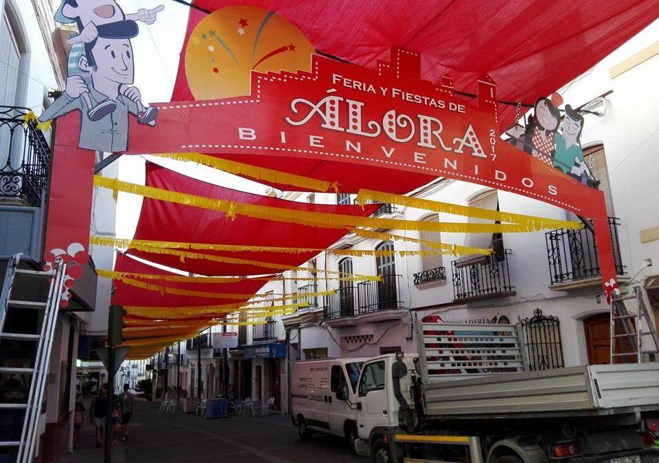 Arco entrada Feria de Alora